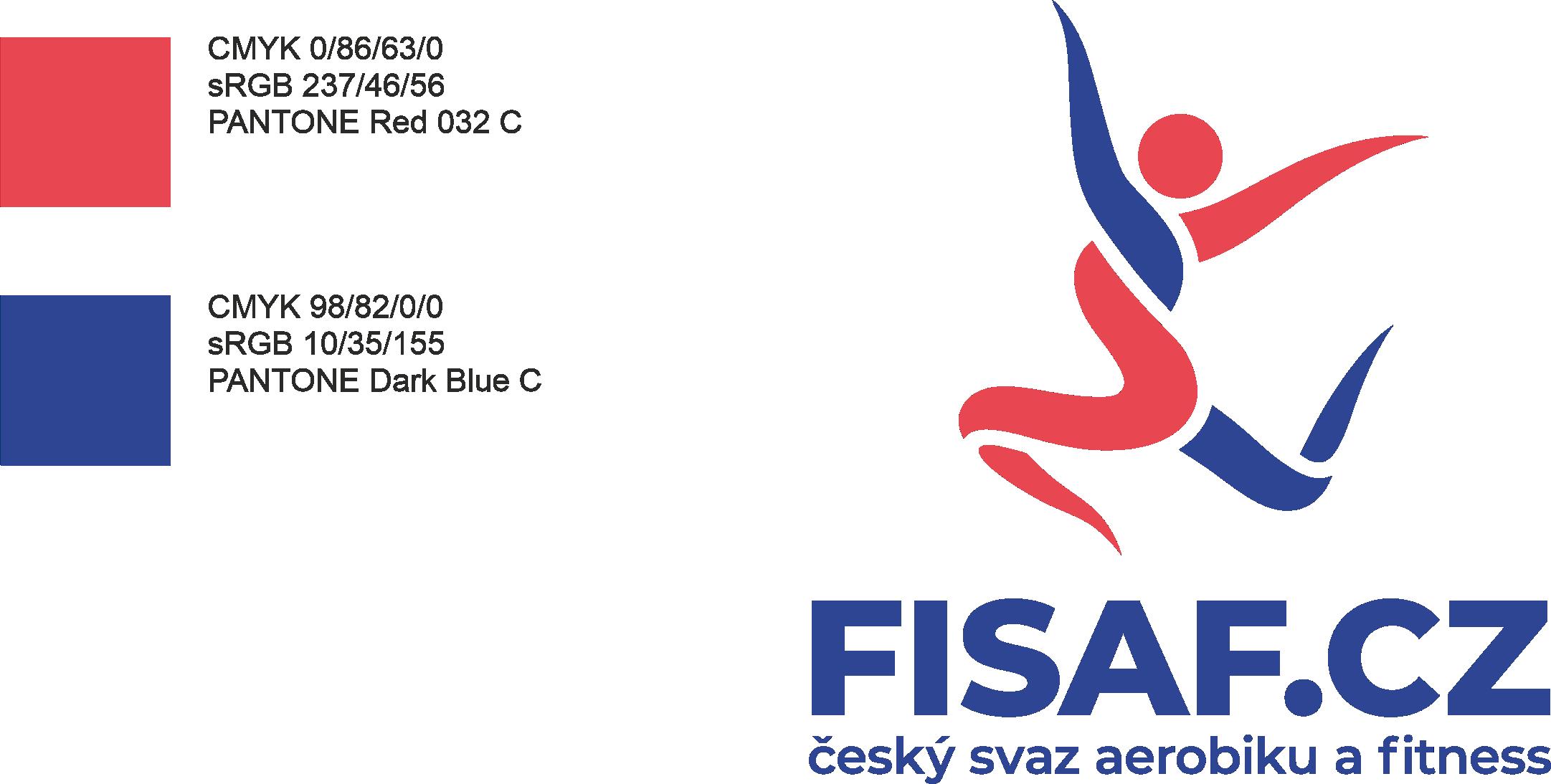 Barevnost loga FISAF.cz