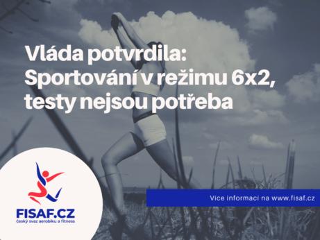 Vláda potvrdila: Sportování v režimu 6x2, testy nejsou potřeba