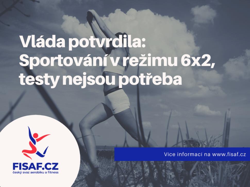 Vláda potvrdila: Sportování vrežimu 6x2, testy nejsou potřeba