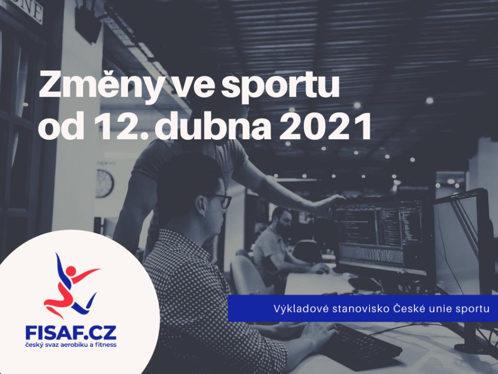 Změny ve sportu od 12. dubna 2021